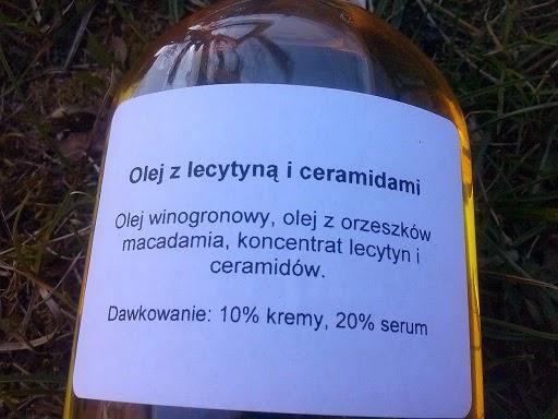 Olej z lecytyną i ceramidami