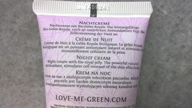 krem na noc Love Me Green