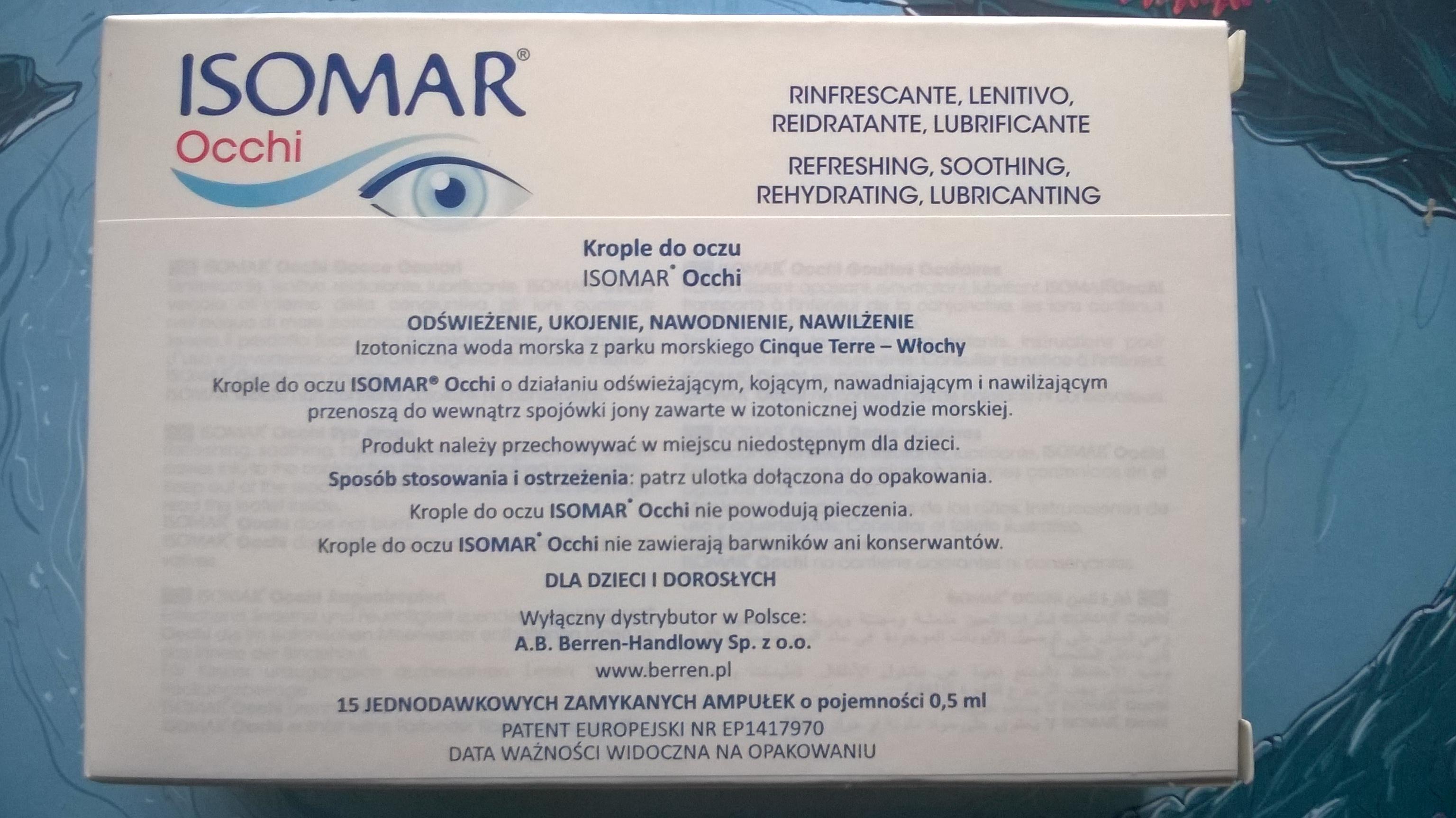 Jak dbać o oczy ISOMAR OCCHI