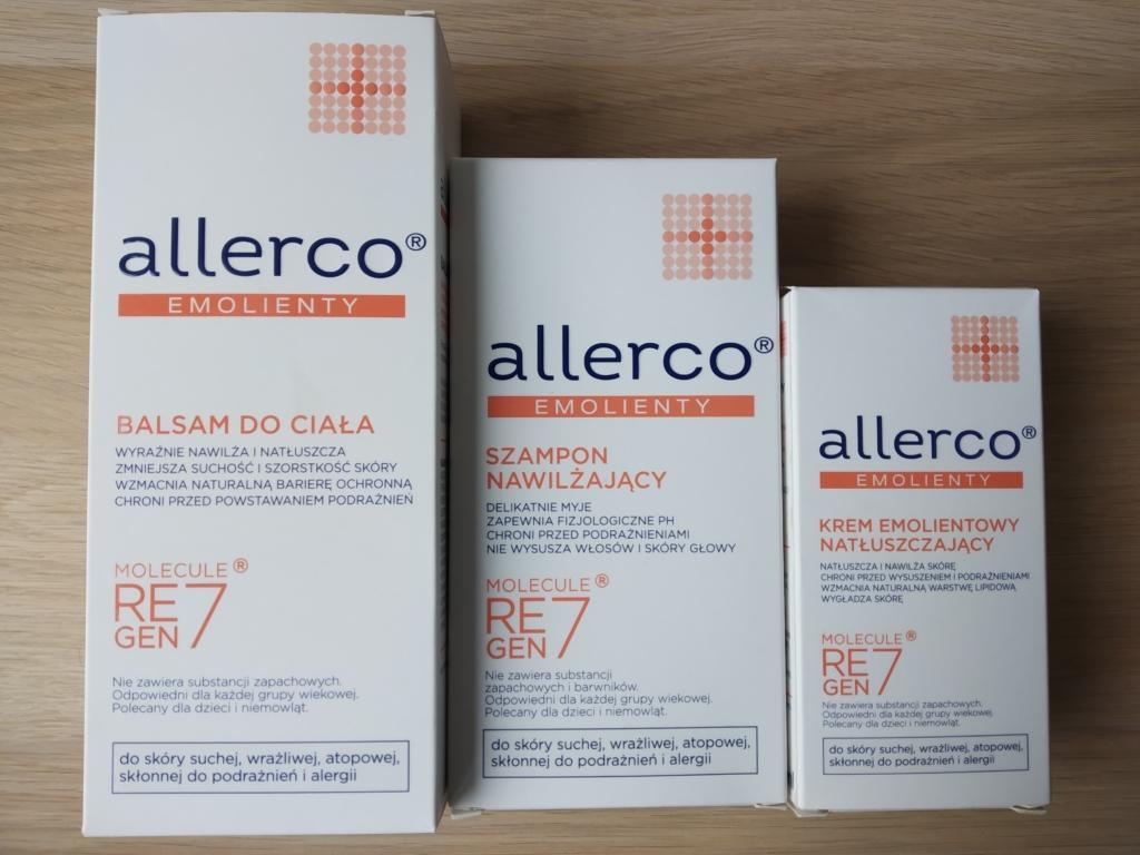 emolienty Allerco - cera, sucha, wrażliwa, atopowa
